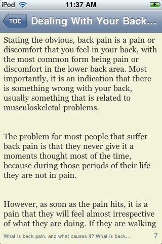 Dealing With Your Back Pain the Natural Way screenshot #2