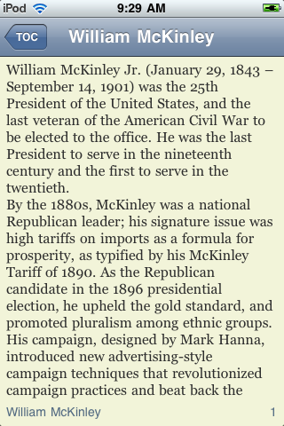 William McKinley - Just the Facts screenshot #3