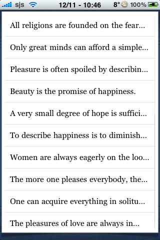 Stendhal Quotes screenshot #2