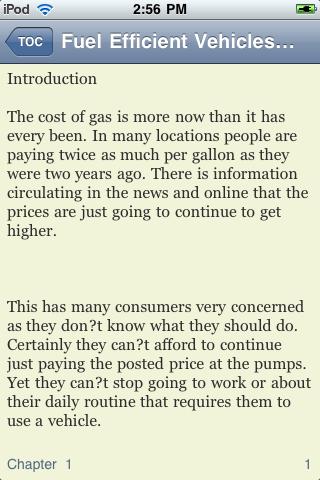 Fuel Efficient Vehicles screenshot #1