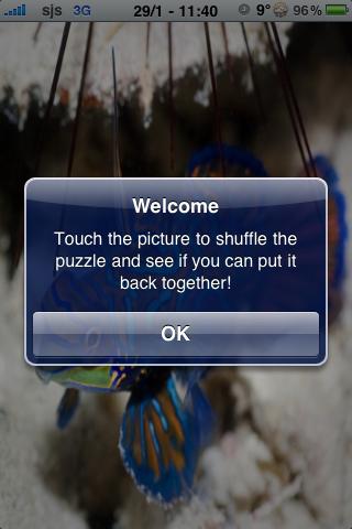 Tropical Fish Slide Puzzle screenshot #3