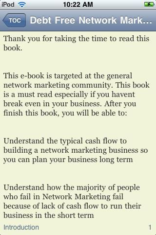 Debt Free Network Marketing screenshot #3