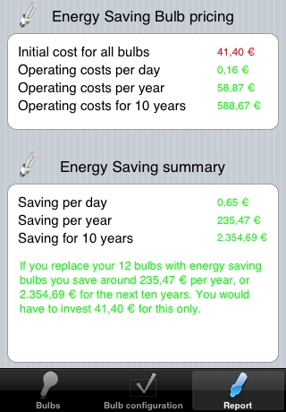 Energy Saver (Bulbs) screenshot #2
