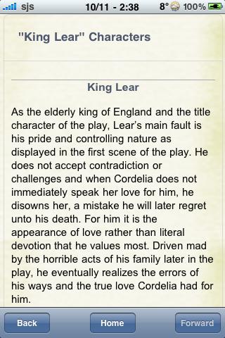 Book Notes - King Lear screenshot #2