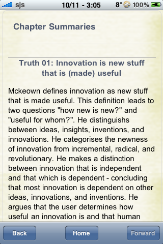 Book Notes - The Truth About Innovation screenshot #2