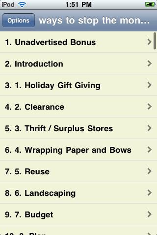 101 Ways to Stop the Money Leak screenshot #3