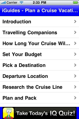 iGuides - Plan a Cruise Vacation screenshot #2