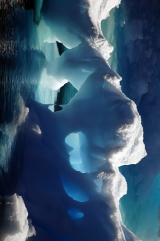 Gorgeous Ice Caverns Slide Puzzle screenshot #1