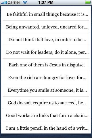 Mother Teresa Quotes screenshot #3