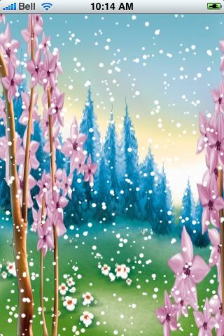 Spring Forest Snow Globe screenshot #2
