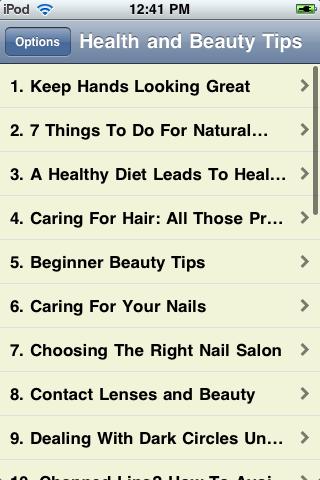 Health and Beauty Tips screenshot #1