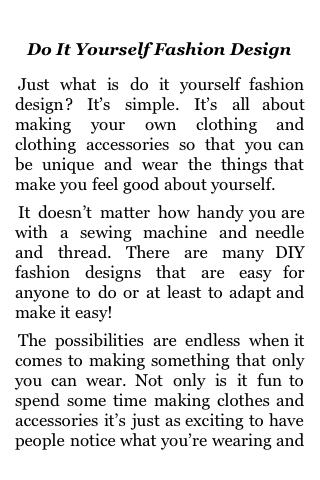 Do It Yourself Fashion Design screenshot #3