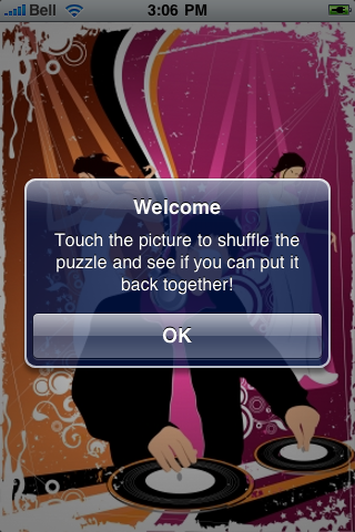 DJ Spinning Slide Puzzle screenshot #2