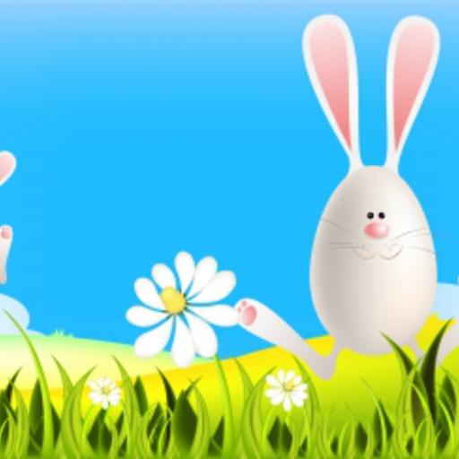 Easter Bunnies Snow Globe