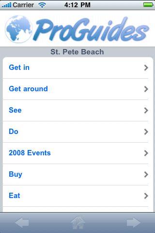 ProGuides - St. Pete Beach screenshot #1