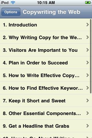 Copywriting for the Web screenshot #2