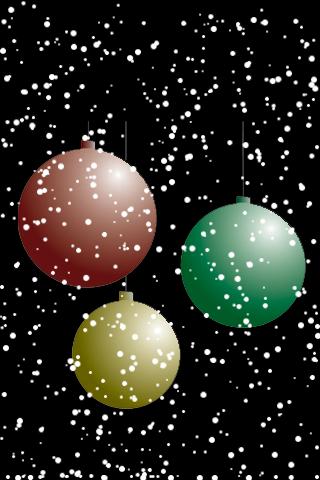 Christmas Bulbs Snow Globe screenshot #1