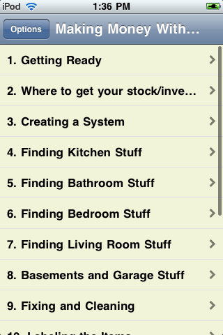 Making Money With Garage Sales screenshot #2