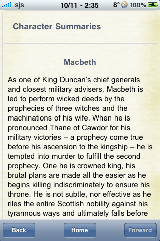 Book Notes - Macbeth screenshot #2