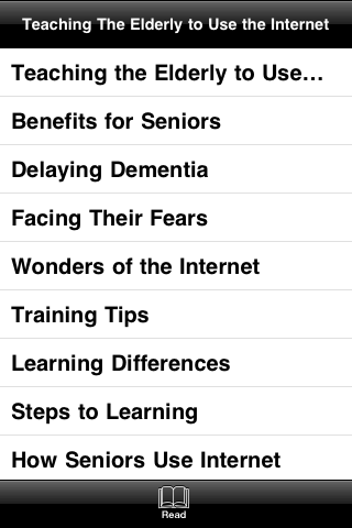 Teaching the Elderly to Use the Internet screenshot #4