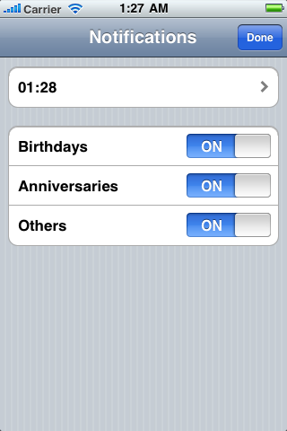Never miss : birthdays,anniversaries and dates (With Push) screenshot #3