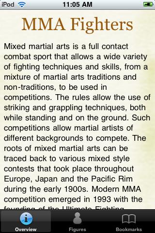 MMA Fighters Pocket Book screenshot #1