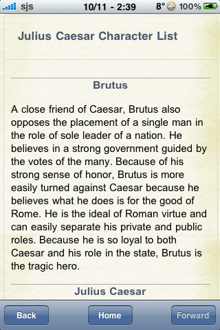Book Notes - Julius Caesar screenshot #2
