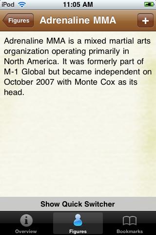 MMA Fighters Pocket Book screenshot #3