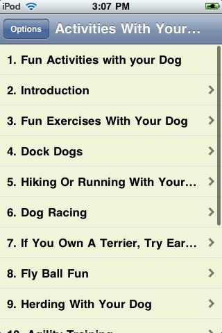 Activities With Your Dog screenshot #2