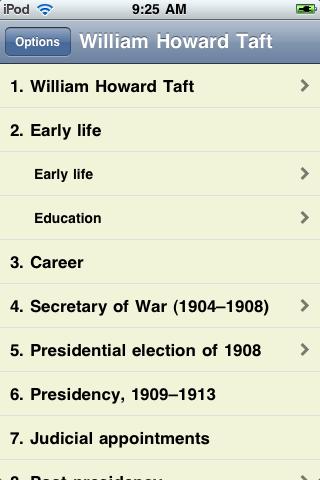 William Howard Taft - Just the Facts screenshot #1