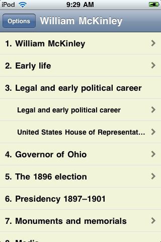 William McKinley - Just the Facts screenshot #1