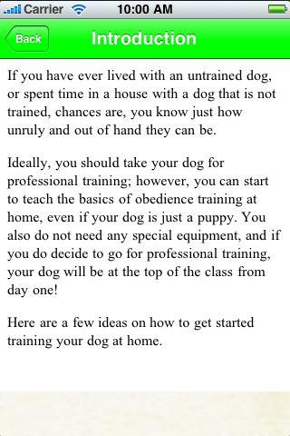 iGuides - Basics of Dog Training screenshot #3
