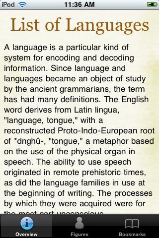 Languages of the World Pocket Book screenshot #1