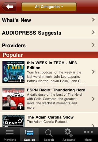 Podcasts - AudioPress Player screenshot #2