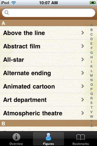 Film and Cinema Terminology Pocket Book screenshot #2