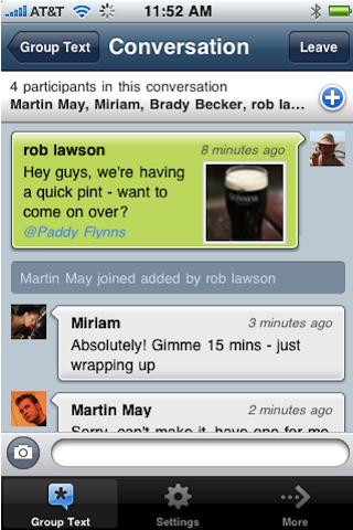 Group Text screenshot 2