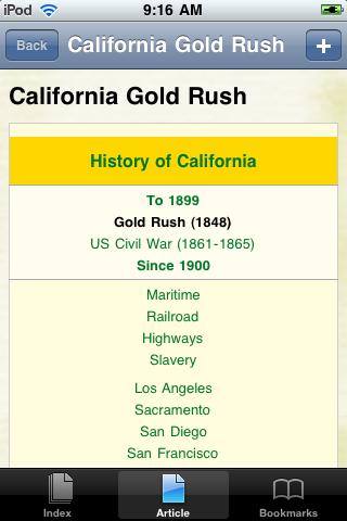 The California Gold Rush Study Guide screenshot #1