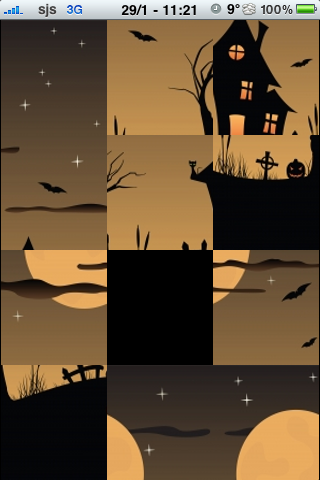 Haunted House Slide Puzzle screenshot #2