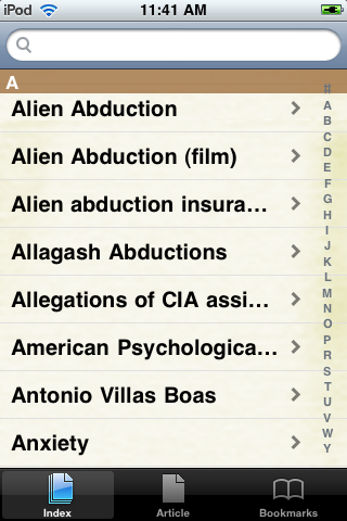 Alien Abduction Study Guide screenshot #2