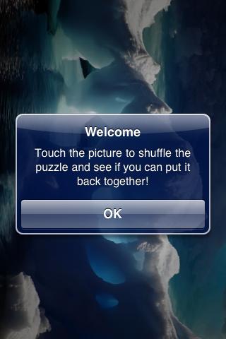 Gorgeous Ice Caverns Slide Puzzle screenshot #2