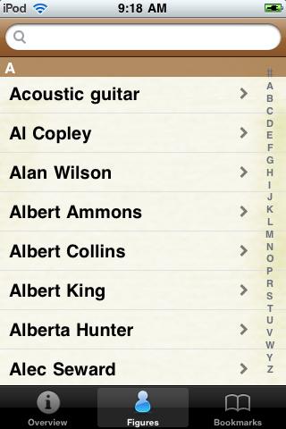 Blues Musicians Pocket Book screenshot #2