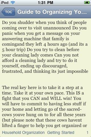 Guide to Organizing Your Home screenshot #3