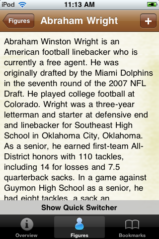 All Time Miami Football Roster screenshot #2