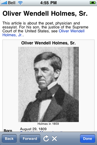 Oliver Wendell Holmes Quotes screenshot #1