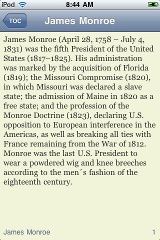 James Monroe - Just the Facts screenshot #3