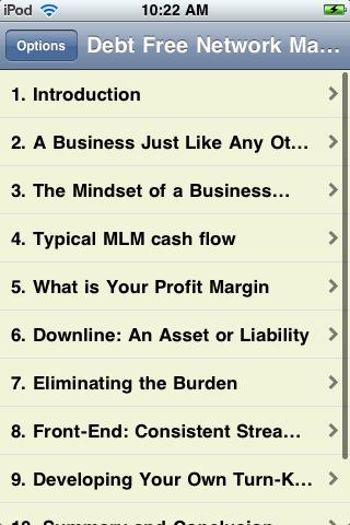 Debt Free Network Marketing screenshot #2