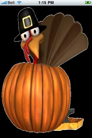 Thanksgiving Turkey Snow Globe screenshot #1