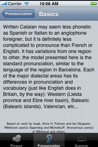 iTrek! - Catalan Phrasebook screenshot #3