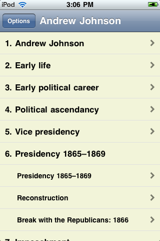 Andrew Johnson - Just the Facts screenshot #1