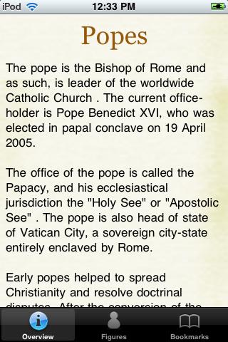 Popes Pocket Book screenshot #1